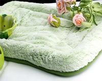 Free shipping,Kitten Soft Fleece Dog mat bed house nest, red/green/brown/pink, 50*30*4cm