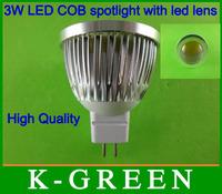 DHL FEDEX UPS TNT EMS free shipping MR16 with led lens 3w cob led spotlight