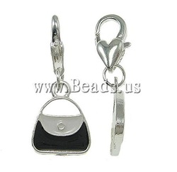 10PCS/Lot Jewelry Findings Nickel, lead & cadmium free Handbag Zinc Alloy Fashion Vintage Charm Pendant 12x27x3mm(China (Mainland))