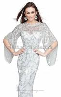 NDT-03  Newest Best Design Hotsale Elegant Mermaid Lace Short Sleeve Evening Dresses 2013