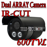 600TVL High Resolution CCD 2Array Waterproof CCTV Night Vision Security Camera With Bracket