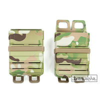 Multicam Airsoft Camo 5.56 Mag Magazine Tactical Fast Attach Pouch Molle System