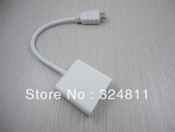 HDMI Male to VGA RGB Female Cable HDMI to VGA Video Converter Adapter for PC PS3 DHL 500pcs