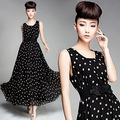 2013 Vintage Fashion new Ladies' Dress,Elegant women's silk chiffon Dress,maxi casual dress long skirts Free shipping HM302
