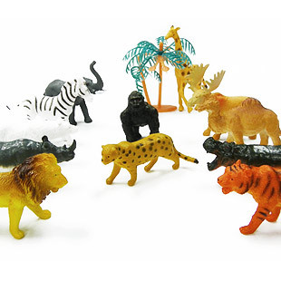 Animal wild animal set model toy(China (Mainland))