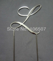 "2.7''(7cm) Stainless Steel double sides  wedding cake topper  RCE font letter ""L"" HOT"