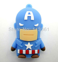 evil Captain America 100% Genuine Capacity  4GB 8GB 16GB 32GB USB Flash Memory Stick Pen Drive  Thumbdrive U Disk Storage Device