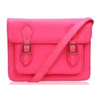 2013 TMC Designe Brand handbag PU Baguette Messenger Cross Body Shoulder Bags Vintage Neon Yellow H-TH047C