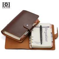 Duer Medium notepad korea stationery vintage cowhide loose-leaf tsmip this notebook diary