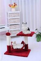 Pet Cat toy rack belt hammock cat scratch board cat louganis cat scratch column Wine red color 45*30*40cm