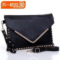 Free shipping  package rivet bag rivets envelope bag day clutch one shoulder women's handbag bag