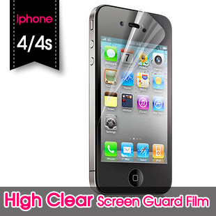 High Transparent HD Film Protectors for Iphone 4 4S High Definition Back and Front Screen Protector(China (Mainland))