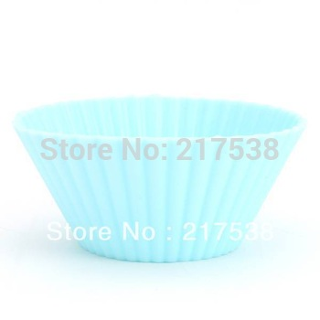 30pcs/lot Soft Silicone Round Cake Cup Muffin Cases Chocolate Cupcake Baking Cup Mold/mould Free Shipping dp670048