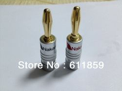 Nakamichi Speaker Banana Plugs Connector 24k Gold(China (Mainland))