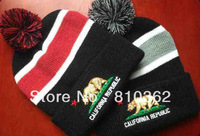 california republic  Beanie ,winter pom beanies,20 pcs/lot mixed order and free shipping  knit  hats skullies