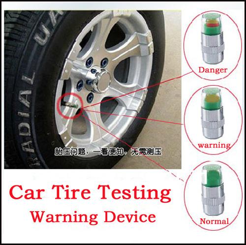 4pcs/set Tire Pressure Monitor Indicator Valve Stem Cap Sensor 3 Color Eye Alert Automotive diagnostic tool Auto Parts wholesale(China (Mainland))