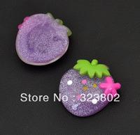 Violet Purple Flatback Resin Cabochon Cell Phone Case DIY Handmade Decoration Accessory 36PCS