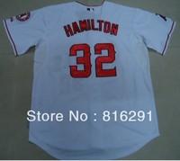 Hot Baseball Jersey  32 Josh Hamilton #32  white color away  jerseys