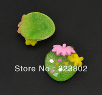 Appale Green Flatback Resin Cabochon Cell Phone Case DIY Handmade Decoration Accessory 36PCS