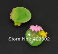 Appale Green Flatback Resin Cabochon Cell Phone Case DIY Handmade Decoration Accessory 36PCS