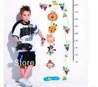 "Children room background cartoon, height stick ""little monkey getting moon, 1.8 meters ,free shipping"