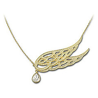 Wholesale Austrian Rhinestone Protect Necklace with Gold Plated Free Shipping