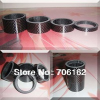 "4pcs/set -Free shipping - best price-CARBON FIBER HEADSET 5mm-10mm-15mm-20mm Spacers kit 1 1/8"" For Stem Road BIKE M-T-B"
