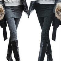 Free Shipping Slim Fit Hip Wraped Faux Two Piece Leggings  Ladies' Sexy Seamless Leggings Pantyhose PT-029