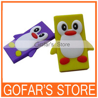 3D Penguin Silicon Case for iPod Nano 7 10pcs/Lot Top Quality