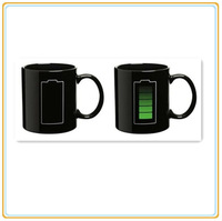 1 Piece Battery Heat Sensitive Temperature Color Changing Mug Coffee Tea Cup With Colo Retail Box Drop Shippig