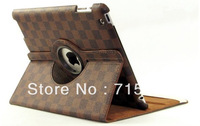 2013 NEW CLASSIC 360 DEGREE ROTATING PU LEATHER SMART COVER FOR IPAD MINI FACTORY PRICE WITH FEDEX / DHL FREE SHIPPING