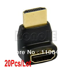 Cheapest 20Pcs/Lot 270 Degree HDMI adapter, HDMI Male to HDMI Female Right Angle Narrow Adapter Free Shipping 9691(China (Mainland))