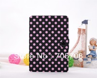 new arrival llovely  candy color dot  case for apple ipad mini ,DHL free shipping forfor apple ipad mini cover