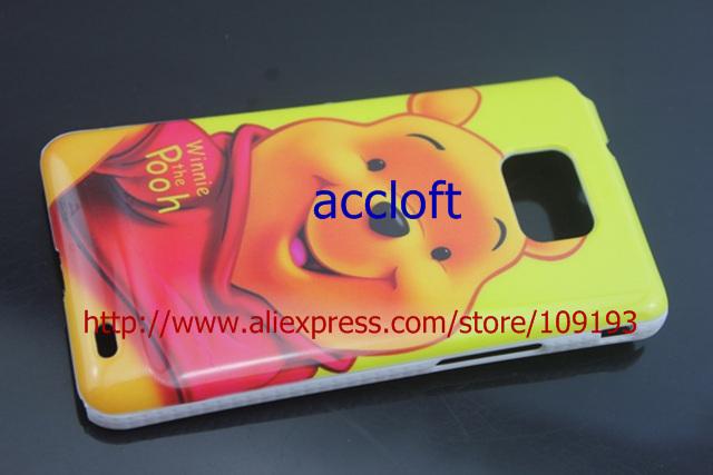 Чехол для для мобильных телефонов Bear Cartoon hard back Case For samsung GALAXY S2 i9100 1pcs/lot by china post