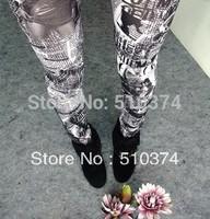 New Fashion Knitting K264 printing styles faux denim jeans women skinny leggings pencil pants slim elastic stretchy