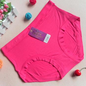 Bamboo Big Size Women's High Waist Panties Female Underwear Briefs Free Shipping