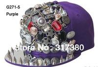 Wholesale 10pcs Mix Colors Fashion Snapback Hats Baseball Hat Men Snapbacks Mens Cap Hip Pop Imitation Metal Women Sport Caps
