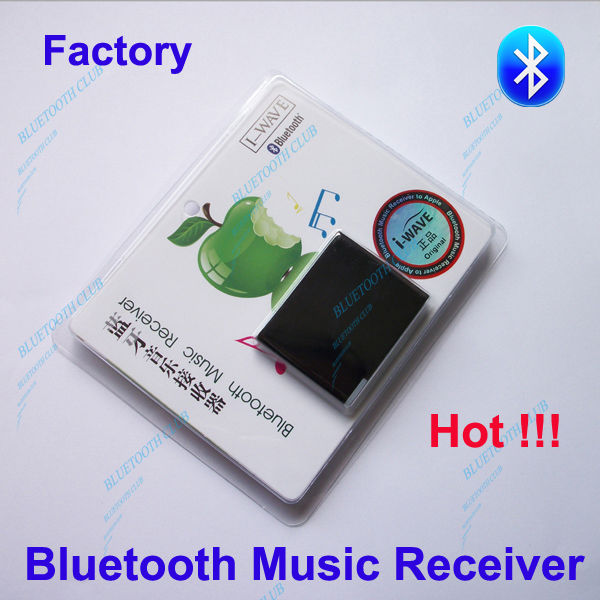 Free Shipping Factory A2DP 30pin connector Bluetooth Wireless Music Receiver Stereo Audio Adapter for iPHONE, iPAD speakers(China (Mainland))