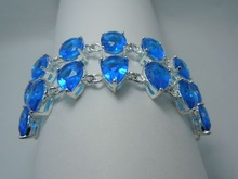 Avoid freight silver jewelry wholesale custom impressive 100 natural Marine blue water droplets form 925 silver