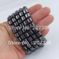 TRIPLE POWER,8cm beads bangles Magnetic Hematite men Bracelet Anklet,women Healthful Magnetic charm bracelet,$10 free shipping