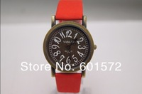 freeshipping/dropshipping 10pcs/lot new arrival leather band womage watch,for men/women,10colors choice,quartz movement
