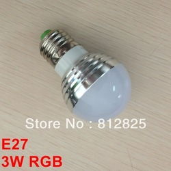 Discount+ 20PCs E27 3W RGB LED bulb 16 colors QP63-rgb Globe Lamp 85-265V for living room show window + Remote Control(China (Mainland))