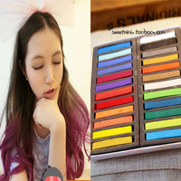 2013 fashion /Gradient color crayon hair dye stick haircolouring pen neon senellier soft pastels