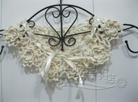vintage Crochet lace Collar Choker flower chain Necklace Wedding necklace, party accessories 2 pcs/lot