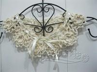 vintage Crochet lace Collar Choker flower chain Necklace Wedding necklace, party accessories 2 pcs/lot