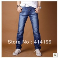 Fahion light blue thick Autumn winter Men's Jeans with big size