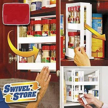 New Swivel Store Spice Rack Space Saving Cabinet Organizer Spacesaver free  shipping