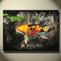 AD020 pure hand panted  modern goldfish decoration oil painting decorated oil painting  wall painting animal canvas art