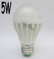 Free shipping sale AC85-265V E27 B22 white 5W LED BULB,AC85-265V,500LM, 5*1w led lamp,2 year warranty