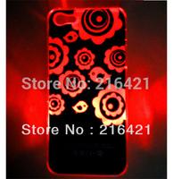 LED Sense Lighting Flower Light Flash Back Hard Case Skin Cover 4 Colors for Apple iPhone 5 5G 5th